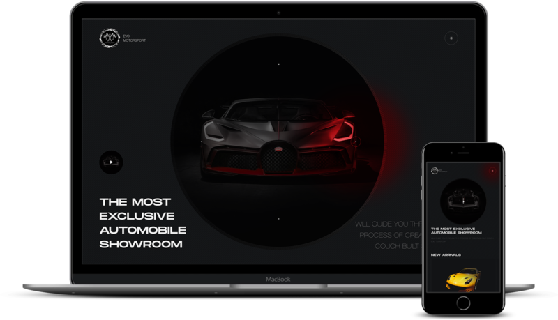Car dealer website redesign preview